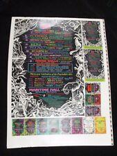 MB 1996 Rock Poster Maritime Hall Unbroken Chain Uncut /w Handbills Sample Sheet