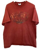 Men's HANES BEEFY HARLEY DAVIDSON HD Short Sleeve T Shirt Chicago Windy City Red