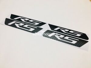 3D Front and Rear Side Marker RS Decal For 2010 2011 2012 2013 2014 2015 Camaro