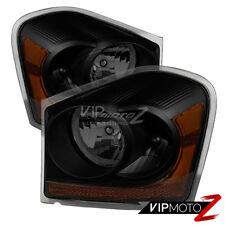 2004-2005 Dodge Durango [Sinister Black] Replacement Headlights Right Left SLT