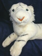 White Siberian Tiger Scarborough Collection Stuffed Plush Kitty Cat Lying 21""