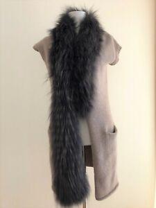 ** FFC ** Luxus Weste Gr.S Wolle Kaschmir Cashmere Pelz Fell Fur FinnRaccoon