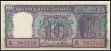 INDIA 10 Rs. Bank Note, Year 1967-Prefix N-Governer L.K. Jha