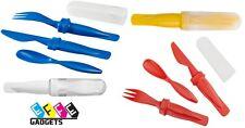 Set posate da campeggio -viaggio Richiudibili - forchetta / coltello / cucchiaio