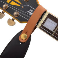 Leather Guitar Strap Holder Button Safe Lock Black for Acoustic Electric  sp