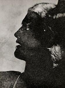 1934 Original MAN RAY Female Profile Negative Portrait Photo Gravure Art 16x20