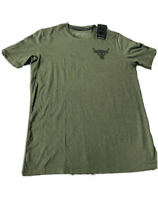 Men's Project Rock Rents Due Short Sleeve Graphic T-Shirt GREEN M SOLD OUT