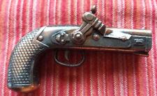 Miniature Play-Time Fusil / Pistolet + boîte Taille-crayon Vintage