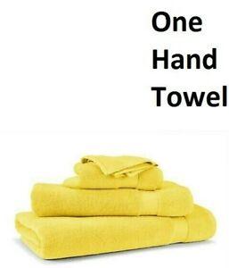 Ralph Lauren Wescott (1) HAND TOWEL 100% Cotton Canary Yellow 16X30