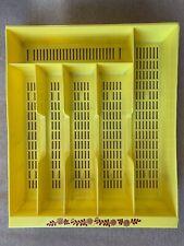 "New listing Vintage Plastic Silverware Tray Divided Mesh Tray Flatware Organizer 11"" x 13.5"""