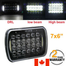 5X7 7X6'' DOT LED Projector Headlight Hi-Lo Beam DRL For Wrangler Cherokee XJ YJ