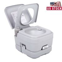 Portable Toilet 2.8 Gallon 10L Flush porta-potty Outdoor Indoor Travel Camping