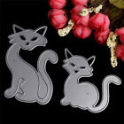 2Pc Fox Cutting Dies Stencil Scrapbook Card Album Paper Embossing Craft DIY