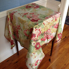 Designer Chintz Floral Fabric Tablecloth