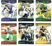 2005 UPPER DECK NFL SWEET SPOT FOOTBALL 6-CARD LOT BRADY MANNING FAVRE BREES
