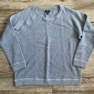 Talbots Woman Gray Silver Cashmere pullover Sweater Sz 1X