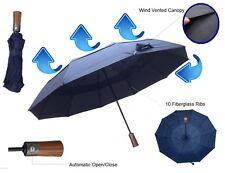 Premium Compact Windproof Umbrella Wind Vented Canopy & 10 Storm Resistant Ribs