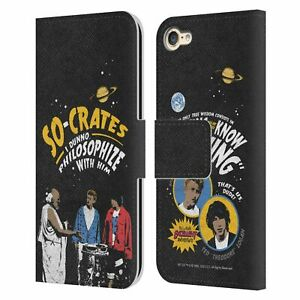 BILL & TED'S EXCELLENT ADVENTURE VINTAGE GRAPHICS LEATHER BOOK CASE iPOD TOUCH