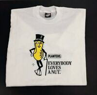 Vintage Planters Mr Peanut T Shirt Single Stitch Mens L Large New NOS Rare USA