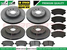 VAUXHALL INSIGNIA 2.0 CDTi 08-17 FRONT /& REAR BRAKE PADS FOR 321MM DISC SIZE