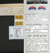 HONDA CB400/4F2 CB400 FOUR WARNING DECAL KIT