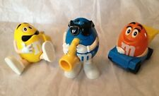 M&M Candy Plastic Figurines - SET of 3 - Burger King Toy - Candy Dispensers