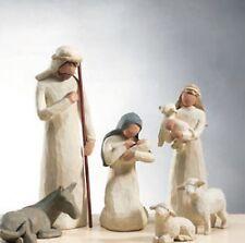 DEMDACO Willow Tree Nativity + Creche / 7-tlg. (6 Figuren + Stall) 26005+26106