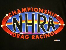 NHRA med T shirt championship drag-racing National Hot Rod Association logo tee