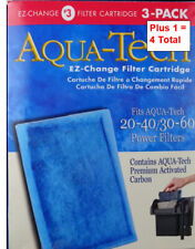 New listing 4 Aquarium Filters Aqua Tech 20-40/30-60 Fish Tank Premium 3 Pack + 1 = 4 Total