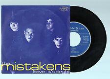 THE MISTAKENS Leave/It's Alright 1998 45 Single la coruña galicia subterfuge