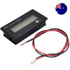 AU 12V LCD Acid Lead Lithium Battery Capacity Indicator Voltmeter Voltage Tester