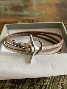 Liebeskind Wickelarmband / Armband in Leder Silber - Neu