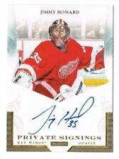 2011-12 Panini Private Signings Autograph Auto #HOW Jimmy Howard