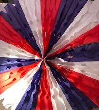 Box of 12 Tissue Fan Red White Blue America Hanging Decoration 25 Inch Beistle