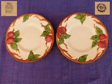 As-Is Franciscan Apple (2) BREAD PLATEs SET of TWO have more items to set USA