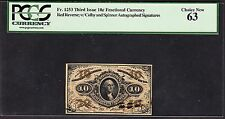 US 10¢ Fractional Currency Note 3rd Issue FR 1253 PCGS 63 Ch CU