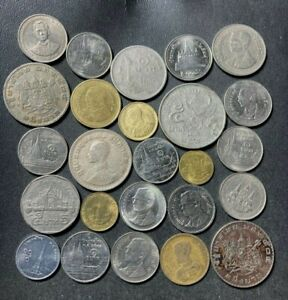 Old Thailand Coin Lot - 1950-PRESENT - 25 High Grade Coins - Lot #F25