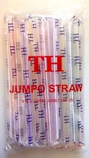 BOBA JUMBO STRAWS 80ct, Individually Wrapped Bubble Tea Fat Wide Plastic Straw
