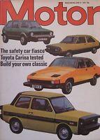 Motor magazine 12/6/1976 featuring Toyota Carina road test, Chrysler Avenger
