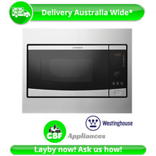 Westinghouse WMB2802SA Built In Microwave Oven 28L 900W Electric InBuilt 8 Prog