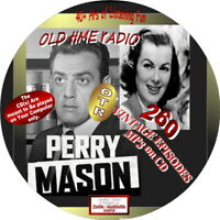 PERRY MASON OLD TIME RADIO SHOW - 260 VINTAGE EPISODES - 41 HRS. - MP3 ON DVD