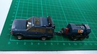 Land Rover Discovery 2 & Fuel Tank Car White Metal Built Model Police Force