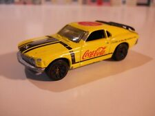 """Matchbox - 1/62 - 1970 Ford Boss Mustang - """"Coca Cola"""" - Yellow - - 1997 -Loose"""