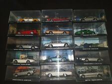 Lot de 15 voitures Miniatures James Bond 1/43