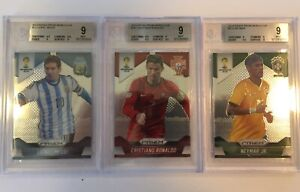 2014 World Cup Prizm Lot Messi, Ronaldo, Neymar BGS 9 *PSA CROSSOVER