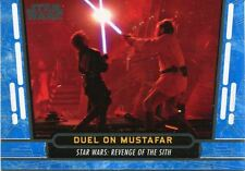 Star Wars 40th Anniversary Blue Base Card #52 Duel on Mustafar
