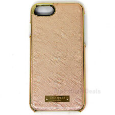 Kate Spade Saffiano Protective Case for iPhone 8 7 6 6s Rose Gold Logo