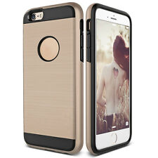 Slim Brushed Shockproof Hybrid Rubber Armor Hard Case Cover For iPhone 4 4s