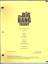 "THE BIG BANG THEORY script ""The Cornhusker Vortex"""