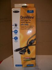 SET OF 10ft OmniView KVM CABLES W AUDIO VGA & AUDIO MIC & 2 PS/2 CABLES